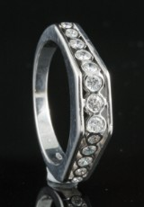 Diamond ring in 18kt approx. 0.25ct