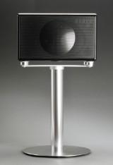 Geneva Lab model L, sort med gulvstand.