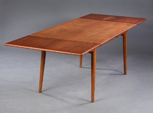 Hans J. Wegner. Dining table with extension, model AT-312, teak and ...