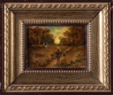 Pan Joanid, a painting, impressionism, Barbizon school