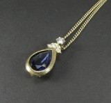 Spinel necklace featuring brilliant-cut diamonds approx. 0.47 ct.
