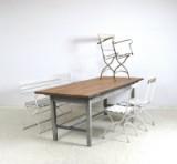 Set Gartenmöbel 1920/30er Jahren, Bank, Tisch, 2 Stühle + Armlehnstuhl, Shabby Chic (5)