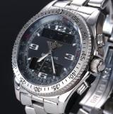 Breitling B-1 Professional men's watch, steel, steel-grey dial, 2000's