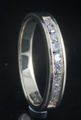 Goldplated diamond ring approx. 0.26ct