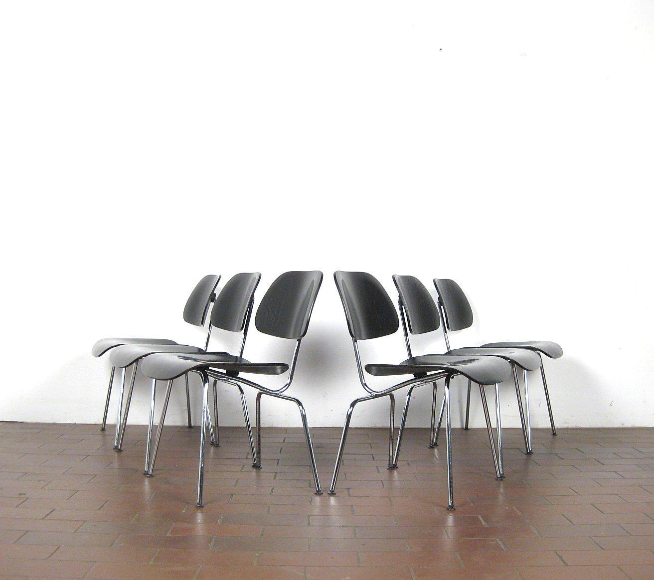Auktionstipset - Charles & Ray Eames, Set Stühle Modell DCM aus der ...