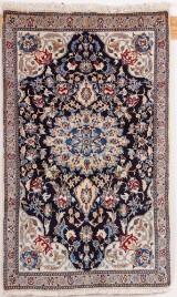 Persisk Nain med silke 140 x 85 cm
