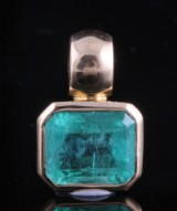 18kt. emerald pendant approx. 3.85ct