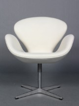 Arne Jacobsen. The Swan, lounge chair, model 3320. 'Red Label'