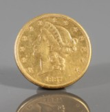 American 'double eagle', $20 gold coin 1887-S, PCGS #9007