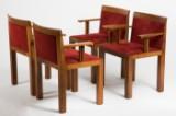 Aldo Rossi & Luca Meda, a set of chairs, model 'Teatro' for Molteni & C, designed in 1982, wood (4)