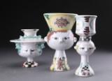Bjørn Wiinblad. Tre vaser af lertøj (3)