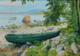 Paul Fischer. Coastal scene from Båstad