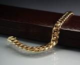 Armlænke af 18 kt. guld, håndlavet, 74,6 gr.