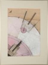 Ubekendt kunstner, mixed media, konstruktivistisk komposition
