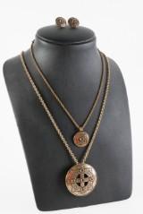 Kalevala Koru, Saint Bridget, Brons och silver. Brosch/hänge, hänge samt ett par örhänge (3)