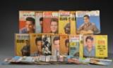 En samling på 41 Elvis singleplader.