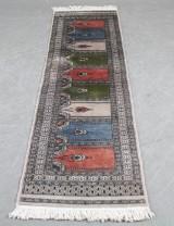 Orientalisk handknuten matta, Pakistan, 198 x63 cm