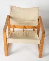 Karin Mobring, Diana Sessel, 1974, Holz, beigefarbener Bezug (2)