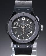 Hublot 'Big Bang Ice Bang'. Men's chronograph of titanium and ceramic, 2010s