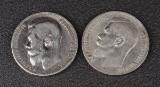 Samling af mønter bl. a. Rusland (13)