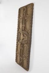 A granary door with crocodile motif, tropical wood, c. 1900, Togo.