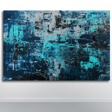 Sky Dweller, akrylbillede, 'Blue Phoenix'