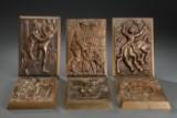 Anders Nyborg. Samling relieffer af bronze (6)