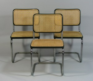 marcel breuer 3 freischwinger 39 s32 39 f r thonet 3. Black Bedroom Furniture Sets. Home Design Ideas
