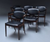Kai Kristiansen. A set of six chairs, Model 42, in rosewood (6)