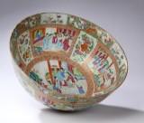 Canton bowle af porcelæn, Kina 1700-1800 tallet