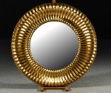 Spegel, guldfärgad ram