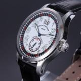 Franck Muller 'Transamerica Grande Guichet' men's watch, steel, white dial, 2010's