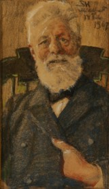 P.S. Krøyer. Portrait of man seated in a chair, 1907, pastel