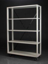 Lisbeth Dahl. Grey shelf on casters