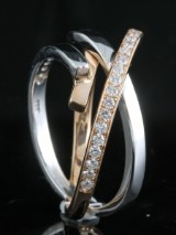 Diamond ring in 18kt approx. 0.35ct