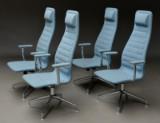 Jasper Morrison for Cappellini, Italien. Et sæt på fire sæt på fire 'Lotus High Office Chair' (4)