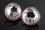 Chopard Happy Diamonds diamond earrings/clips, 18 kt. white gold (2)