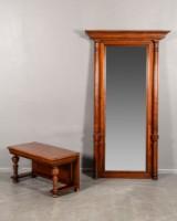 Spegel med bord/konsollbord i mahogny 1800-tal