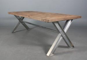 Langbord/Spisebord, genanvendt elmetræ | Lauritz.com