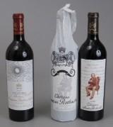 3 fl. diverse årg. Château Mouton Rothschild. (3)