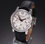 Montblanc 'Timewalker' men's chronograph watch, steel, pale dial, 2010 certificate