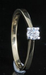 18kt diamond solitaire ring approx. 0.20ct, with ID report