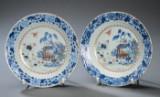 Et par Ch'ien-Lung tallerkener. 1700-tallet. (2)