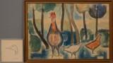 Kjeld Heltoft, akvarel og radering, dyremotiver (2)