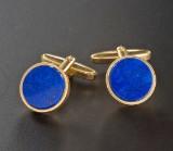 Par manchetknapper 18 kt. guld med lapis lazuli (2)