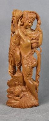 Indische Holzschnitzerei eines Paars
