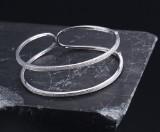 Diamond bangle, 18 kt. white gold