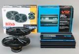 Bilforstærker samt højtalere (2)
