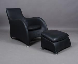m bel gerald van der berg f r montis loge sessel aus schwarzem leder 2 dk. Black Bedroom Furniture Sets. Home Design Ideas