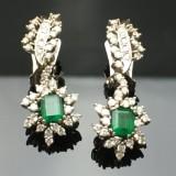 Juveløreringe med brillanter og smaragder (2)